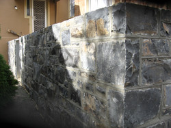 Basalt Tuck-Pointed Wall