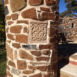 Circular basalt pier