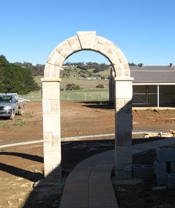 Stone Archway with Keystone