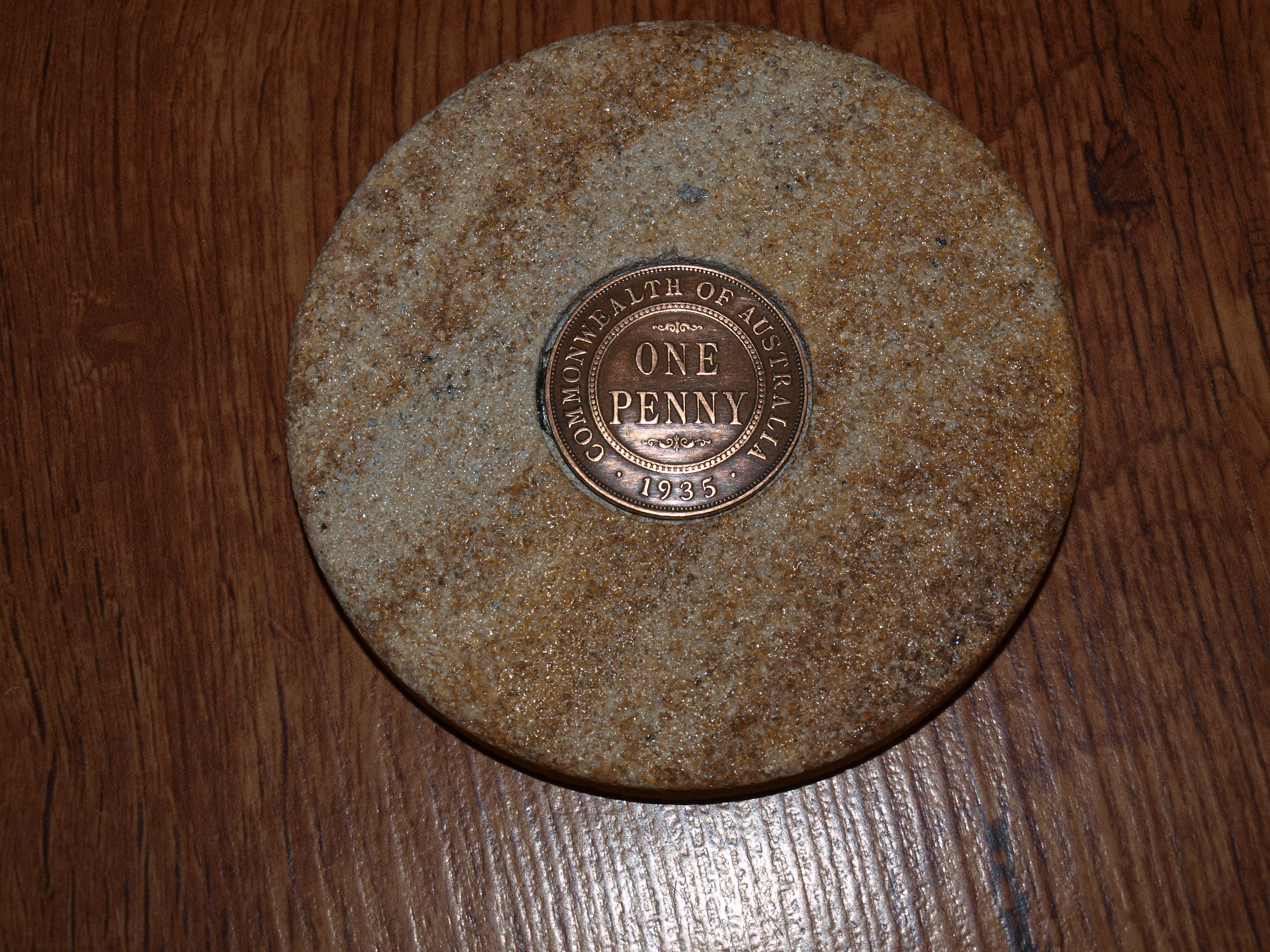 Sandstone Penny Coaster