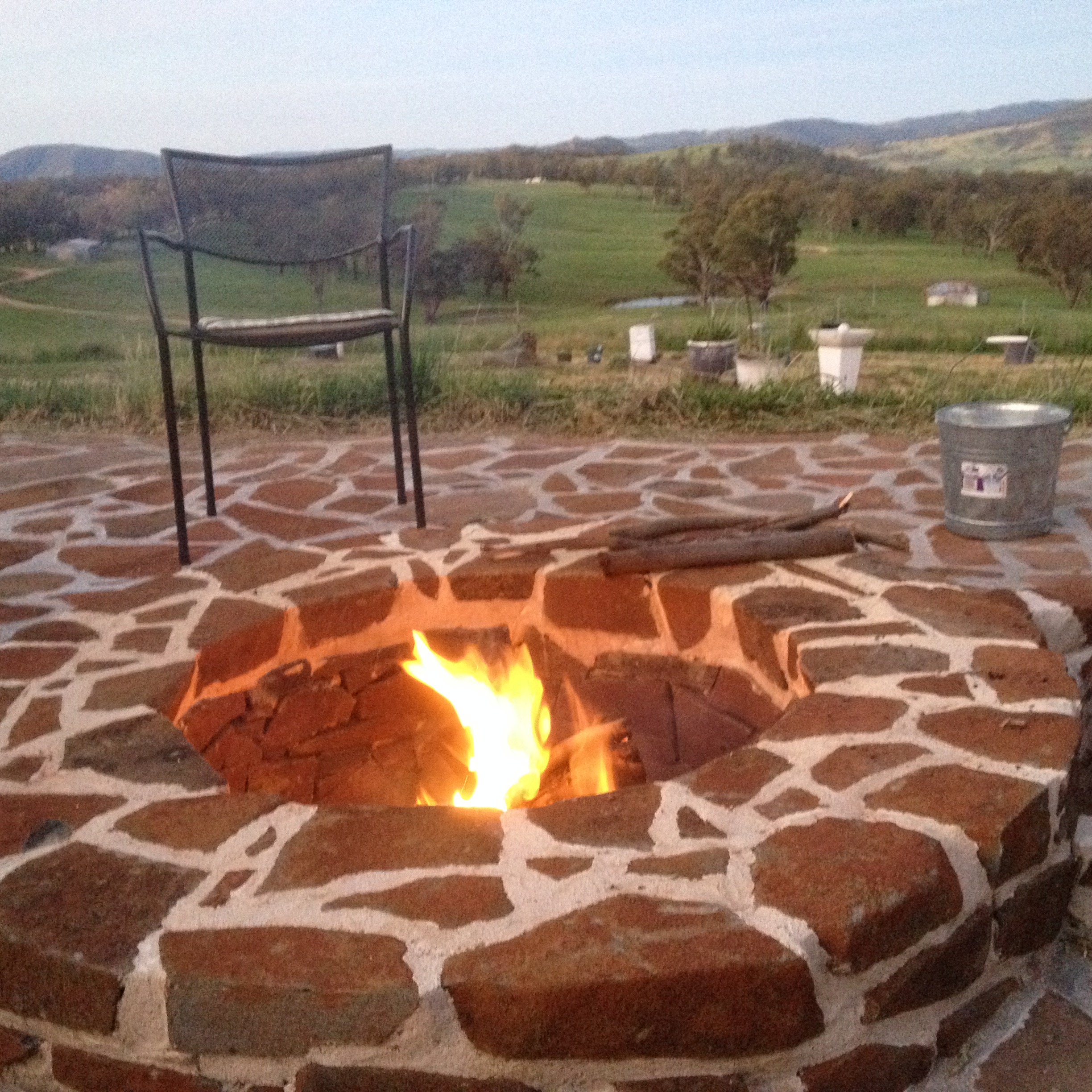 Fire pit made of basalt