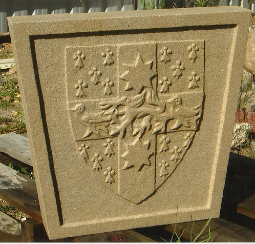coat of arms and family crests hand carved