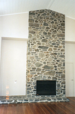 Bluestone fire place and hearth