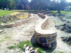 Basalt garden walls