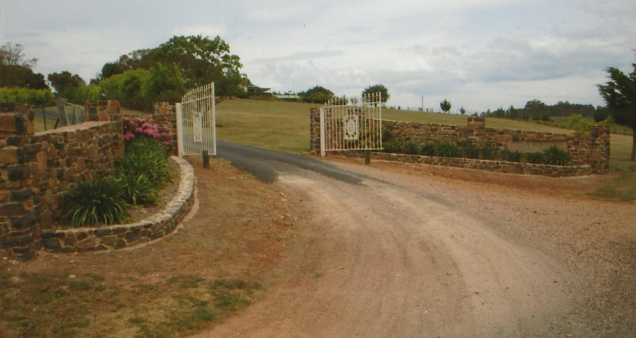 Entrance Walls and Sign