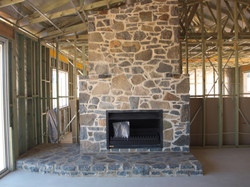 Basalt Fireplace and Hearth