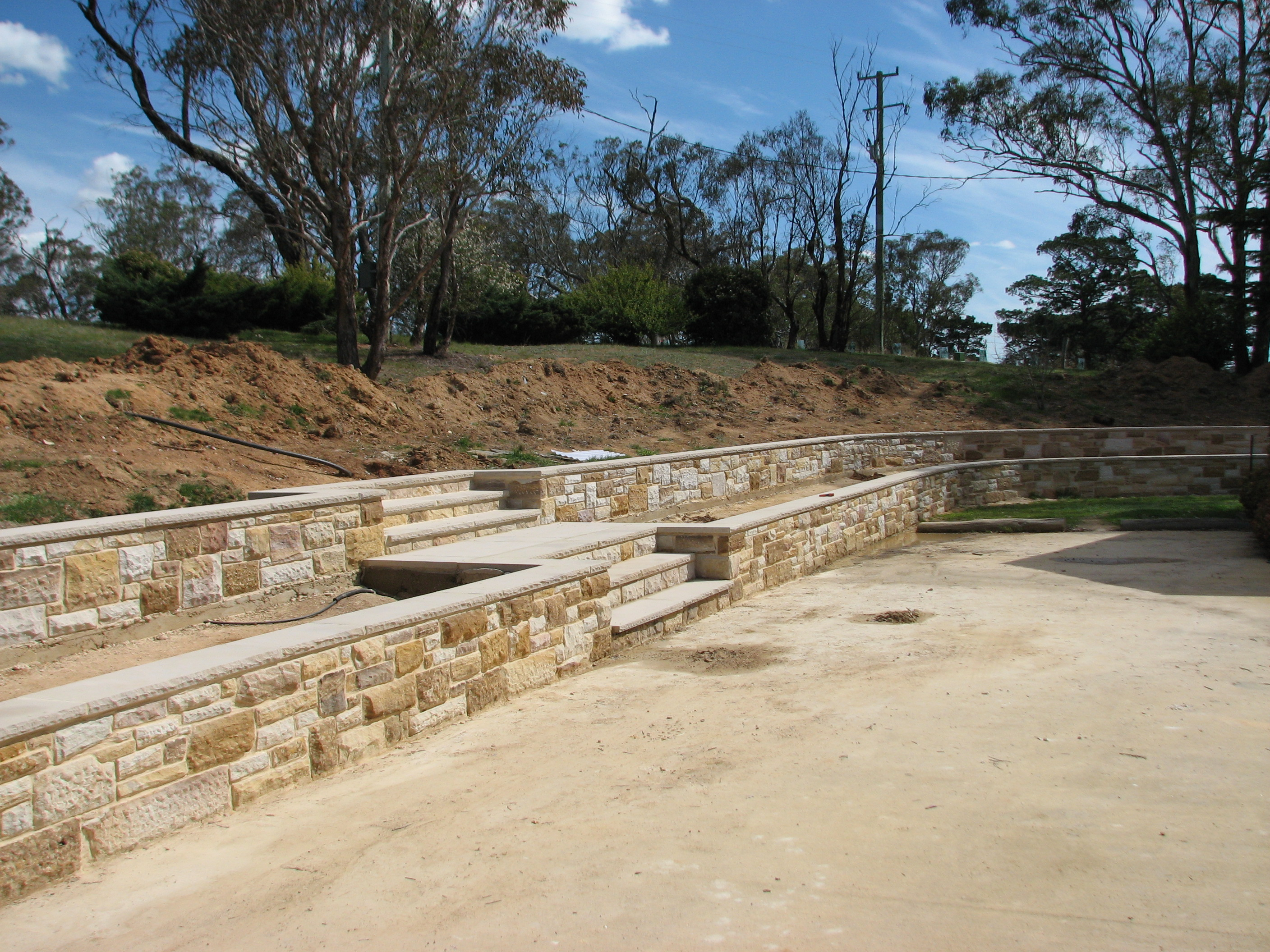 Sandstone Walls and Steps