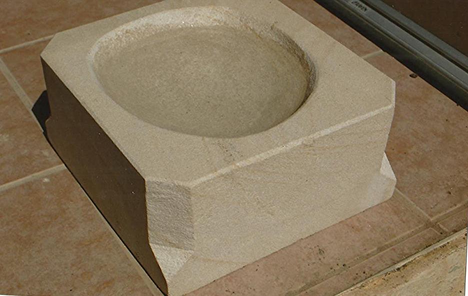 Stone water bowl