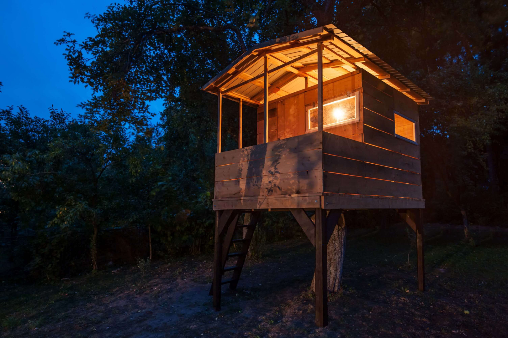 Treehouse with lights on.jpg