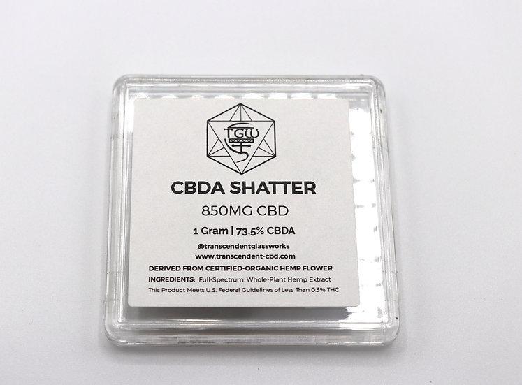TGW - Full Spectrum CBDA Shatter - 1 Gram