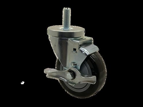Swivel 4x1-1/4 Poly on Poly Wheel Top Lock Brake