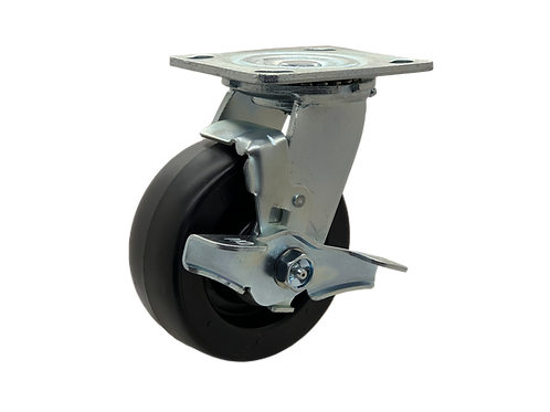 Swivel 5x2 Polyolefin Wheel Top Lock Brake