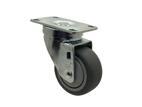 Swivel 3x1-1/4 TPR Wheel