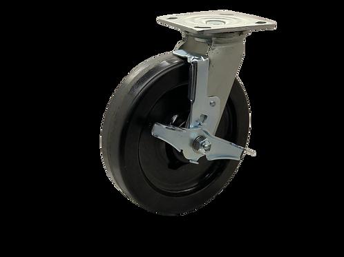 Swivel 8x2 Phenolic Wheel Top Lock Brake