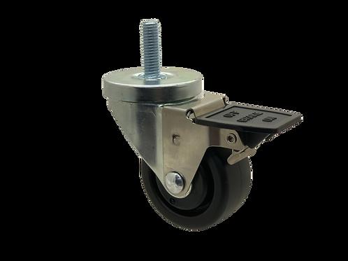 Swivel 3x1-1/4 Polyolefin Wheel Tech Lock Brake