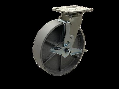 Swivel 8x2 Steel Wheel Top Lock Brake