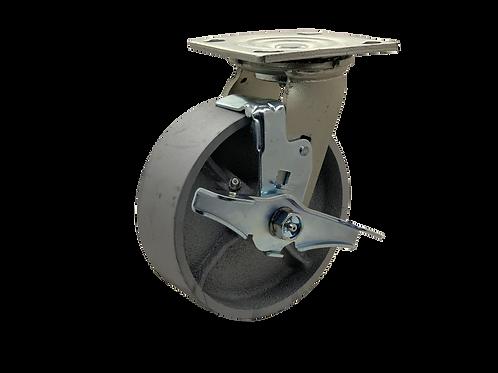 Swivel 6x2 Steel Wheel  Top Lock Brake
