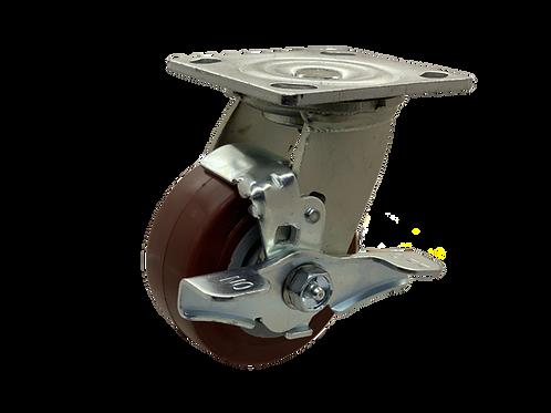 Swivel 4x2 Poly on Poly Wheel Top Lock Brake