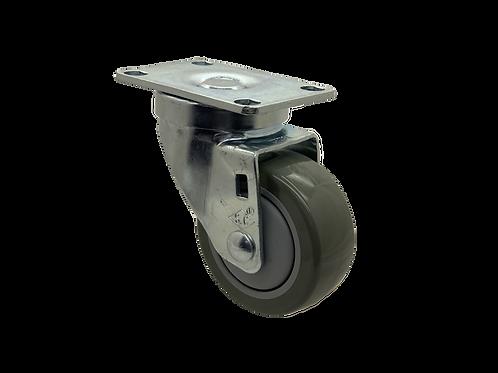 Swivel 3x1-1/4 Poly On Poly Wheel