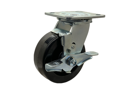 Swivel 5x2 Phenolic Wheel Top Lock Brake