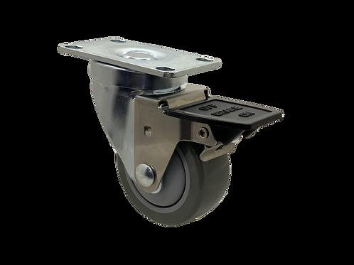 Swivel 3x1-1/4 Poly On Poly Wheel Tech Lock Brake