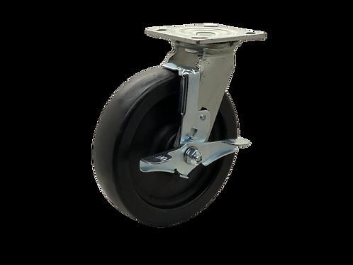 Swivel 8x2 Polyolefin Wheel Top Lock Brake