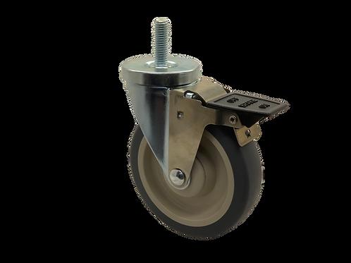 Swivel 5x1-1/4 TPR Wheel Tech Lock Brake