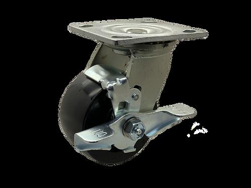 Swivel 4x2 Polyolefin Wheel Top Lock Brake