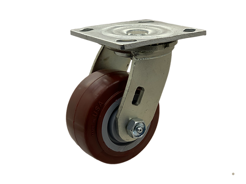 Swivel 4x2 Poly on Poly Wheel