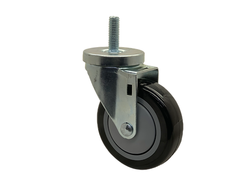 Swivel 4x1-1/4 Poly on Poly Wheel