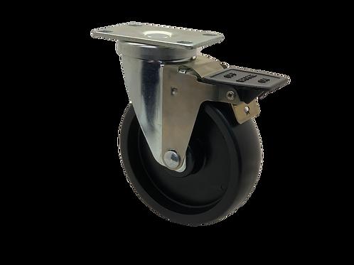 Swivel 5x1-1/4 Polyolefin Wheel Tech Lock Brake