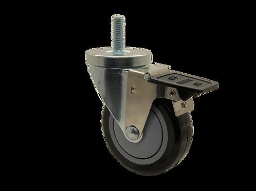 Swivel 4x1-1/4 Poly on Poly Wheel Tech Lock Brake