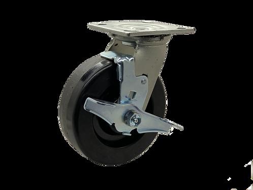 Swivel 6x2 Phenolic Wheel Top Lock Brake