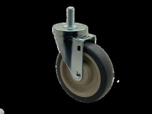 Swivel 5x1-1/4 TPR Wheel