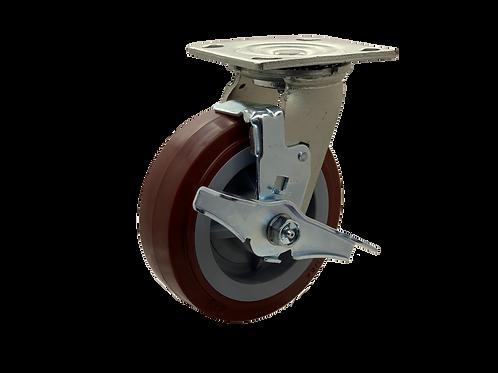 Swivel 6x2 Poly on Poly Wheel Top Lock Brake