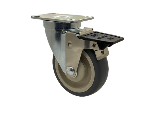 Swivel 4x1-1/4 TPR Wheel Tech Lock Brake