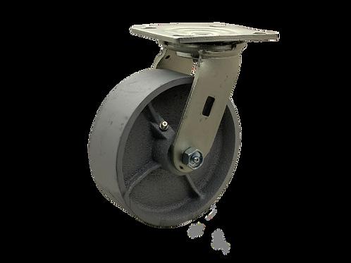 Swivel 6x2 Steel Wheel