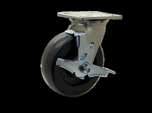 Swivel 6x2 Polyolefin Wheel  Top Lock Brake