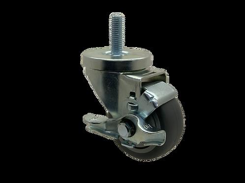 Swivel 3x1-1/4 TPR Wheel Top Lock Brake