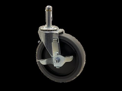 Swivel 5x1 TPR Wheel Top Lock Brake
