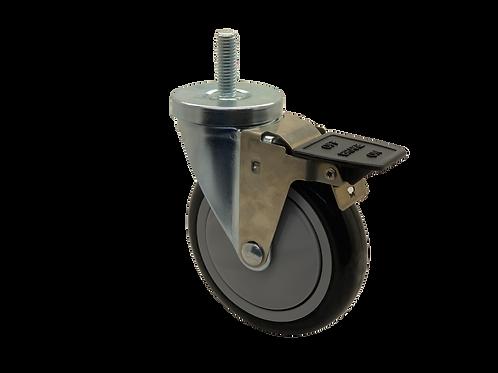Swivel 5x1-1/4 Poly on Poly Wheel Tech Lock Brake