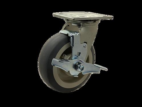Swivel 6x2 TPR Wheel Top Lock Brake