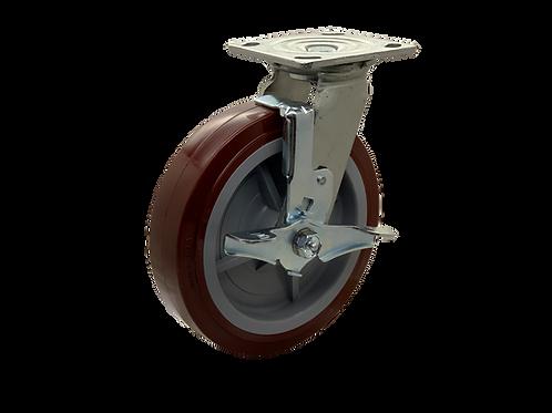 Swivel 8x2 Poly on Poly Wheel Top Lock Brake