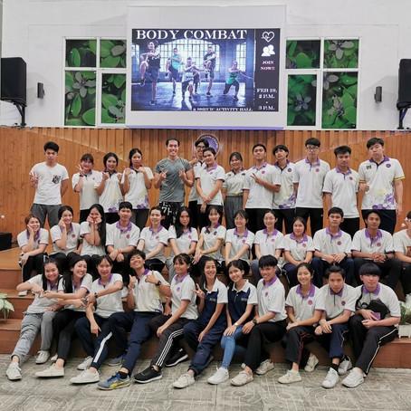 ฝ่ายกิจการนักศึกษาและศิลปวัฒนธรรม จัดกิจกรรมกิจกรรม Body Combat ให้กับนักศึกษาชั้นปีที่ 1