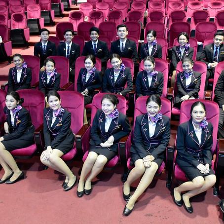 จัดนำเสนอสรุปผลงานหลังการฝึกปฏิบัติงานในองค์กรการบิน ของนักศึกษา ธุรกิจการบิน รหัส 59 (กลุ่มที่ 2)
