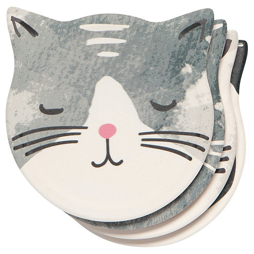 Now designs Soak Up Coasters Set of 4 CATS MEOW