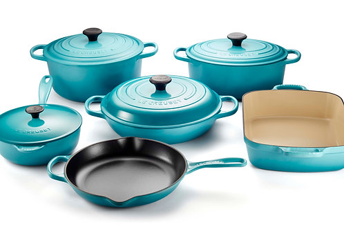 Le Creuset 10 PIECE ENAMELLED CAST IRON SET