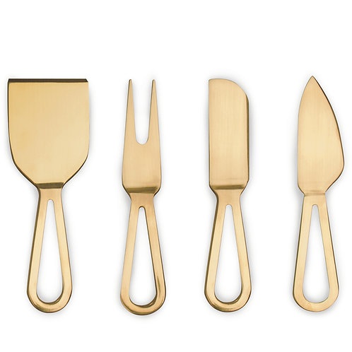 Danes Gold Cheese Knives Set of 4
