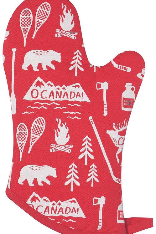 Now Designs Oven Mitt O Canada