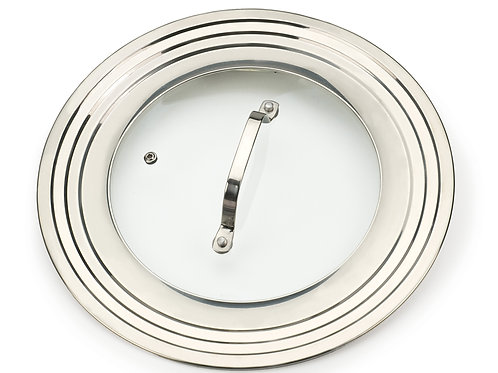 RSVP Universal Lid With Glass Insert For Pots And Pans